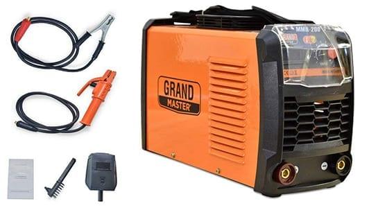 Soldadora Inverter Grandmaster 200 AMP, soldador inverter, Propiedades del Soldador Grandmaster MMA 200, Detalles técnicos de la Soldadora Inverter