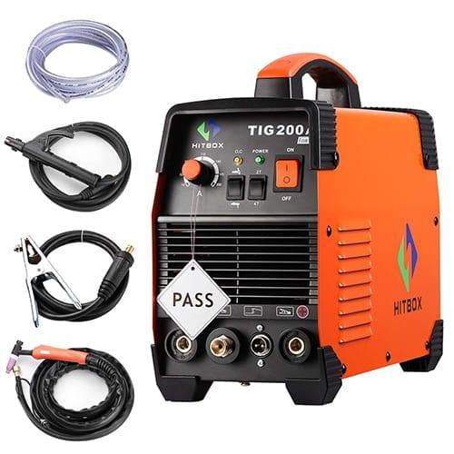 Inversor Hitbox Mig Soldadura 200Amp 220V DC MIG MAG ARC Levante TIG ARC Gas