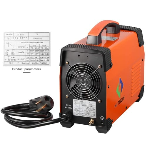 Equipo de Soldar Inverter Hitbox 200 AMP, soldadora inverter TIG, soldadorainverter.org
