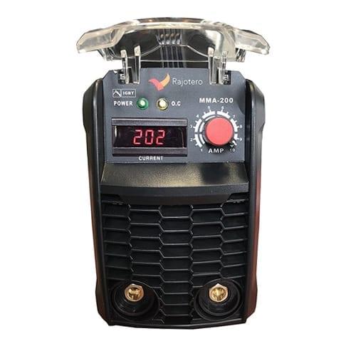 equipo de soldado inverter Rajotero 200 AMP, Soldador Inverter Rajotero Profesional MMA-200 DC, soldadora inverter, soldadorainverter.org