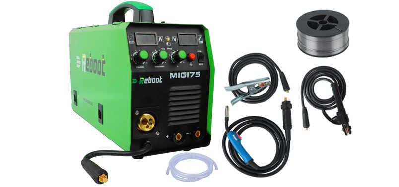 Soldador Reboot Mig 175 de gas y sin gas