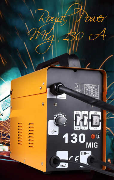 🥉 ROYAL POWER 2020 Soldadora Inverter Hilo Continuo sin Gas 130A