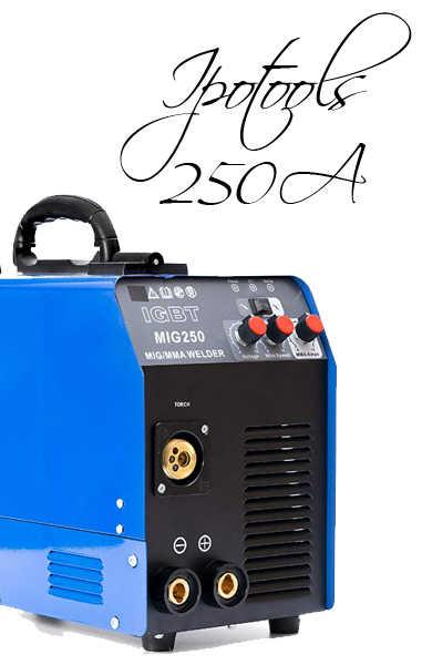 🥉 Soldador IPOTOOLS MIG 250 | Inverter de Hilo continuo sin gas IGBT