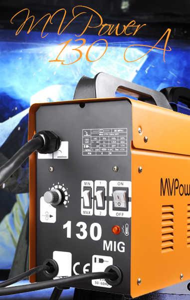 🥉 MVPower Soldadora MIG de 130A Inverter de Hilo Compacto Reseña