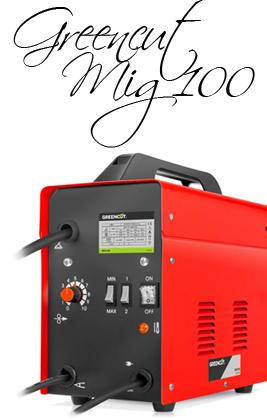 🥉 Soldador Inverter GREENCUT MIG100 Eléctrico Hilo Continuo con Gas