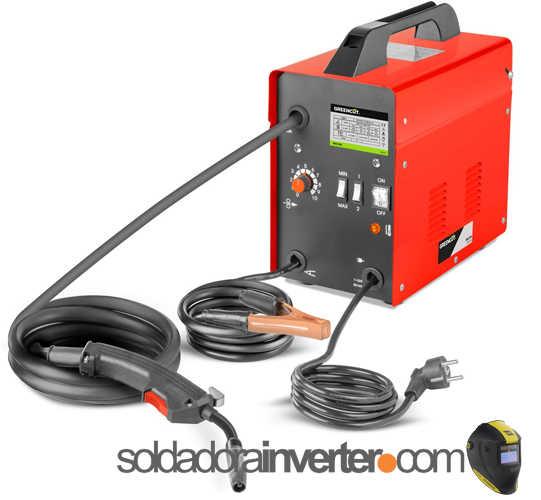 Soldador Inverter GreenCut MIG100 Eléctrico Hilo Continuo con Gas Turbo Ventilado