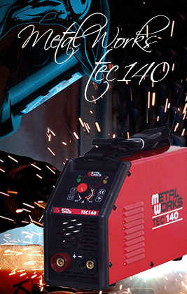 ▷ METALWORKS TEC 140 Soldadoras Inverter de Electrodos MMA