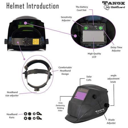 Careta de Soldar Tanox ADF-206S, mejor careta de soldar 2020, mejor careta Tanox , soldadorainverter.org, careta precio, descuento, oferta, amazon, careta inteligente