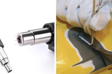 soldadura de calor, soldadora termoplastico, soldador por aire caliente, soldador aire calor