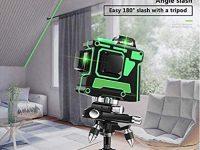 QianY-Tool Nivelador Láser verde en 3D de 12 líneas