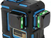 ViaGasaFamido Mando a distancia Autonivelación Nivel láser Luz verde 12 líneas