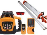 TryEseller Kit Autonivelación rojo Nivel láser rotativo Trípode