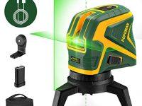 POPOMAN Nivel láser verde con 2 puntos de conexión