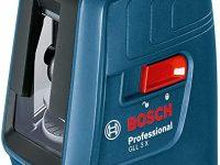Bosch Home and Garden Bosch GLL 3X profesional nivel láser de líneas cruzadas con 3 líneas