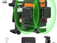 TACKLIFE Línea Láser Autonivelante Verde, Modo de Pulso Externo