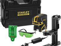 Stanley - FatMax Kit Profesional Nivel láser lineas cruzadas + 2 puntos verde, 30 m