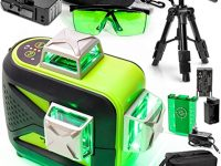 Tanox Conjunto de Nivel Láser Verde 3D, Gafas de Mejora y Trípode