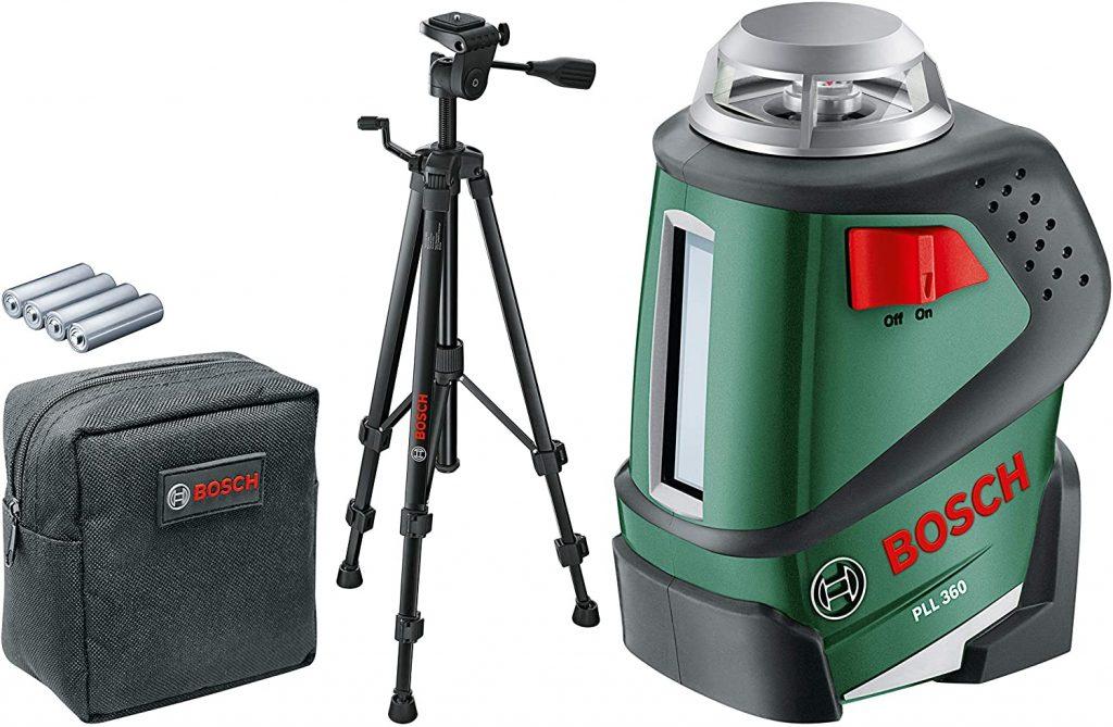 laser nivel,nivel láser, Bosch PLL 360 - Nivel láser 360º con trípode