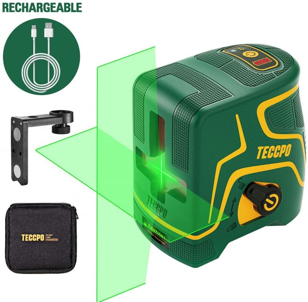 Nivel Láser Verde 30m TECCPO ,niveles laser,laser nivel,nivel láser