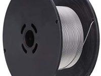 Cutowin 1 Rollo de Alambre de Soldadura de Acero Inoxidable 0,8 mm, 1 mm, 1,2 mm, con Revestimiento de Flux, 0,8 mm