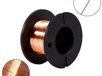 Alambre esmaltado de cobre de 0,1 mm,10 rollos, de alambre de reparación de bobinado magnético, 12 m