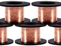 5 Rollos de 0.1 mm en Diámetro Cobre Alambre esmaltado Alambre de cobre 15m en longitud, Natural