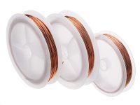 Rollo de alambre de cobre esmaltado, bobina magnética, cable de soldadura, 25 m, 1