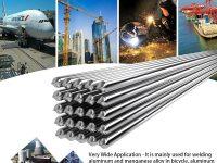 KKmoon 20PCS Alambre de soldadura de aluminio de baja temp con núcleo de flujo 2mm * 500mm Al