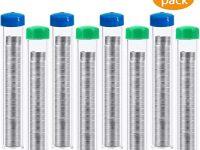 CKANDAY 8 Unidades de 60 – 40 Rosin Core Soldadura, 0,8 mm / 0,032 in DIY, 8 Piezas Tubo Pack, 160 g Total