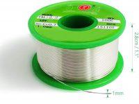SANTOO Sn-99.3 Cu-0.7 Hilo de Estaño de Núcleo de Colofonia Cable Sin Plomo (1 mm de diámetro, 100 g),