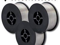 Alambre de acero MIG/MAG, diámetro de 0,8 mm, alambre de soldadura Flux E71T-1C, en rollo de 1 kg