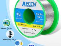 Alambre de Soldar, 0.6mm Hilo de Estaño Para Soldar Eléctrica, (Sn99 Ag0.3 Cu0.7, Flux 2.2%)