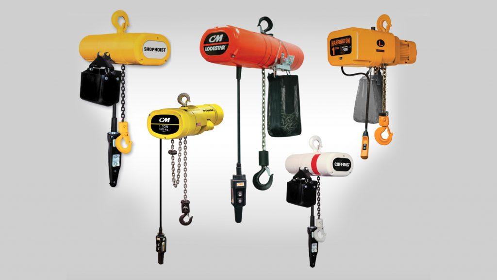 polipastos eléctricos, Polipastos manuales , Polipastos en línea