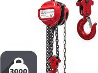 Polipasto Cable Grúa de Bloque de Mano 3000kg WilTec